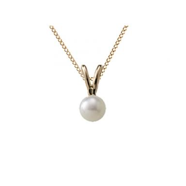 "Children's 10K Yellow Gold 13"" 4mm Pearl"