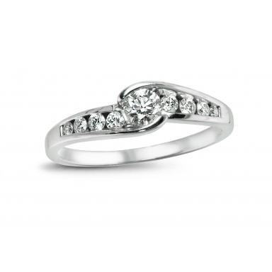 Glacier Fire Canadian Diamond 0.40CTW Bridal Ring