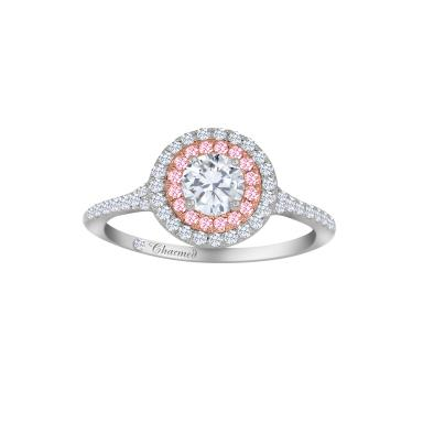 CHARMED BY RICHARD CALDER .72CTW PINK DIAMOND ENGAGEMENT RING