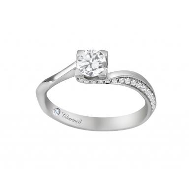 Charmed By Richard Calder 0.66CTW Diamond Engagement Ring