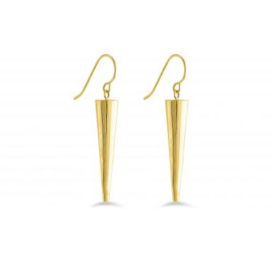 Yellow Gold Polished Horn Earrings