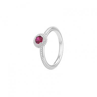Silver January Birthstone Stackable Ring - Size 6