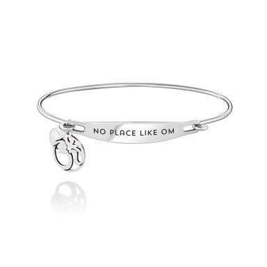 Sterling Silver No Place Like Om Medium/Large