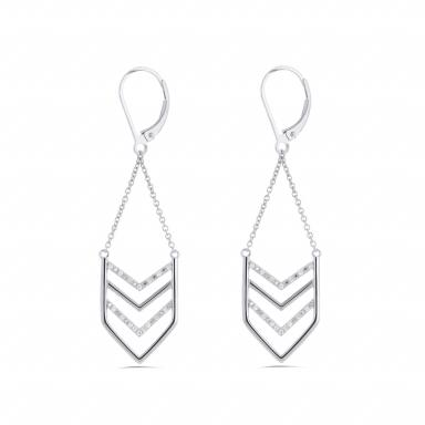 Sterling Silver Fashion Earrings 0.10CTW