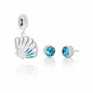 Chamilia Sterling Silver Earrings & Charm Set