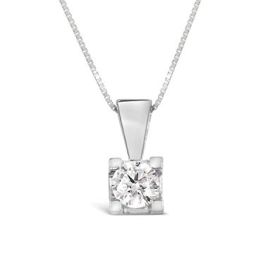 Glacier Fire 14K White Gold 0.33CTW Canadian Diamond Pendant