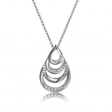 "Elle Majestic Wave Cubic Zirconia 18+2"" Necklace"