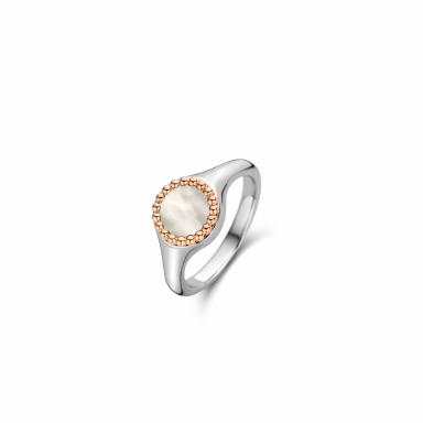 Ti Sento Bubble with Mother-of-Pearl Rose Gold-Tone Ring