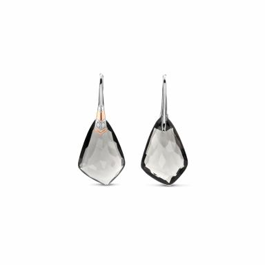 Ti Sento Fantasy Grey Stones Dangle Earrings