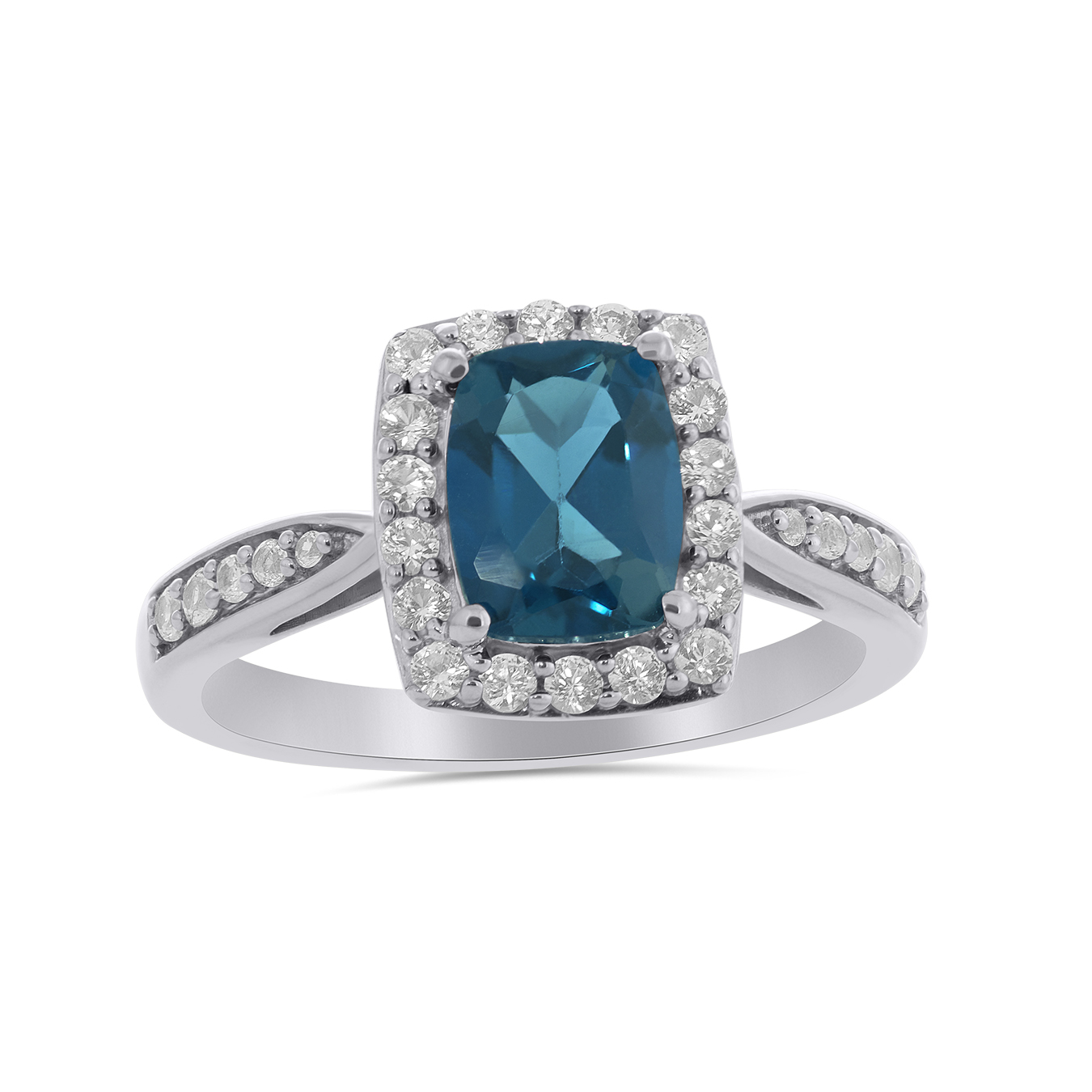 Size P Ivy Gems Sterling Silver Gorgeous Opal Sapphire /& Diamond Ring BNIB